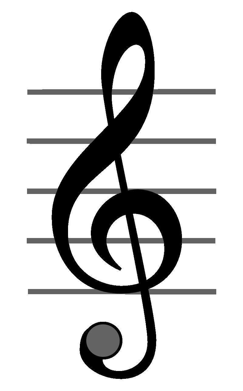 Значок Лира И Скрипичный Ключ